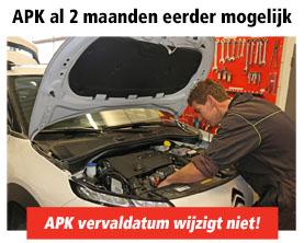 APK keuring 2 maanden voor vervaldatum mogelijk