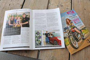 Autobedrijf Bart Ebben en Natuurlijk Carmen in Vita Magazine editie 11-2016