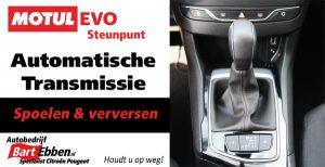 Autobedrijf Bart Ebben Malden - Motul Evo steunpunt voor spoelen van automatische transmissie