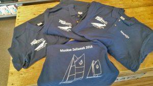 Poloshirts Mookse Zeilweek met Autobedrijf Bart Ebben logo